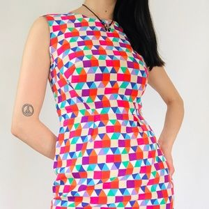 Kate spade geometric multi color dress